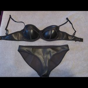TRIANGL bikini. Worn once black leather